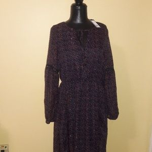 ⚘Romeo & Juliet Couture Sz M Boho Maxi Dress NWT